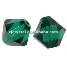 4 milímetros Peridot Crystal Bicone, Crystal Bicone Beads