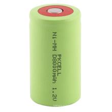 Tamaño de la batería recargable Nimh de alta capacidad D 1.2v 8000mah