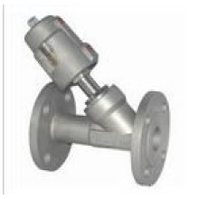 completely stainless steel angle seat valve with flange
