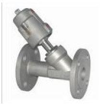 Válvulas pneumáticas totalmente em aço inoxidável com flange
