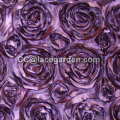 Violet Ribbon Embroidery Fabric