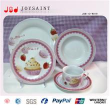 Placas de jantar maioria baratas de venda quente da porcelana 9inch para a massa