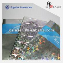 Hologramm-Klebe-Aluminium-Papierrolle für Buchumschlag Verpackung