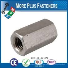 Fabricado en Taiwán DIN 6334 Tuerca de conexión hexagonal Nuevo ancho entre planos De acuerdo con la norma ISO 272