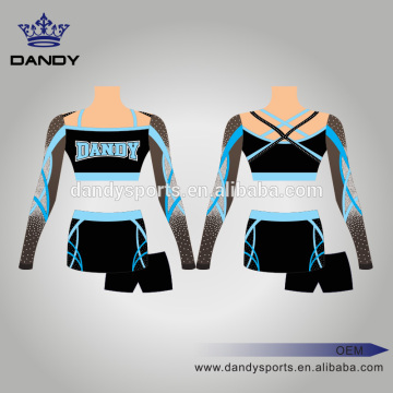 Uniforme de cheerleading brillant