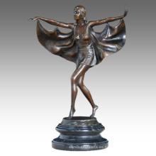 Dancer Figura Estatua Fly Lady Bronce Escultura TPE-458