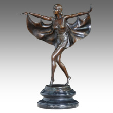 Danseuse Figure Statue Fly Lady Bronze Sculpture TPE-458