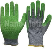 NMSAFETY gants verts résistants aux coupures, enduits de latex