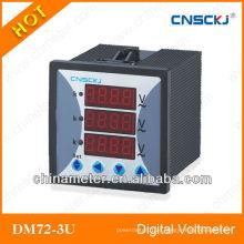 Voltímetro trifásico do medidor de voltagem dc