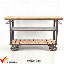 Cocina industrial de la barra de la cocina que sirve el carro Trolley