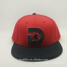 2016 o mais novo boné plano snapback com a-ZA-Z emboridery chapéu snpaback fazer na china