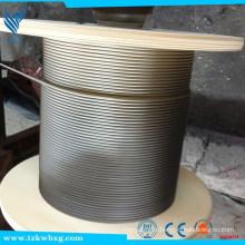 Cordon en acier inoxydable 316L en acier inox 6 * 7-iws