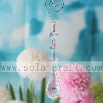 Tear Drop Prism Chandelier Lamp Pendente Decorazioni natalizie 16CM