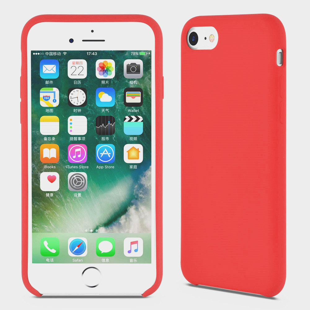 red silicone iphone 6s cover