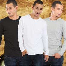 Atacado O-pescoço colar e unisex manga comprida Multicolor T-shirt