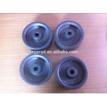 rodas industriais do ferro fundido resistente