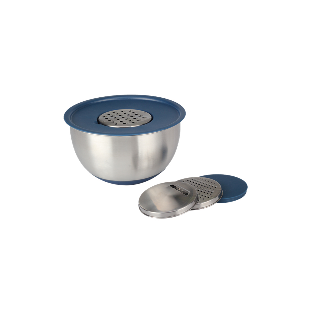 Stainless Steel Grater And Pe Lid