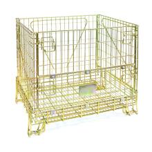 Recipiente de gaiola de armazenamento dobrável de metal
