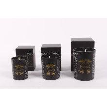 Bougie en verre noir avec logo personnalisé