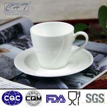 Taza de té de porcelana de burbuja impresa personalizada y platillo