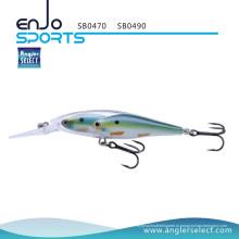 Приманка для рыболовных снастей Anglo Select Glass Minnow для приманки с креплением Vmc Treble Hooks (SB0490)