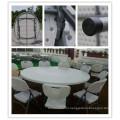 Диаметр 180 см Плунжер для ПЭВМ Пластиковый легкий переносной штабелируемый легкий складной круглый стол (HQ-Y180)