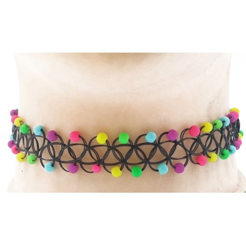 Femmes Fashion collier Multi indien perles collier tatouage