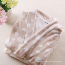 Peignoir Kimono Tissu imprimé en laine de corail