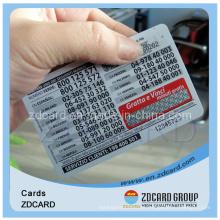 Papel Cartão de telefone Cartão em branco Cartão de nomeação Cartão de transporte Cartão de PVC