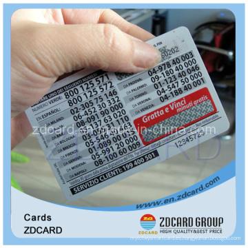 Tarjeta de teléfono de papel Tarjeta en blanco Tarjeta de nombre Tarjeta de transporte Tarjeta de PVC
