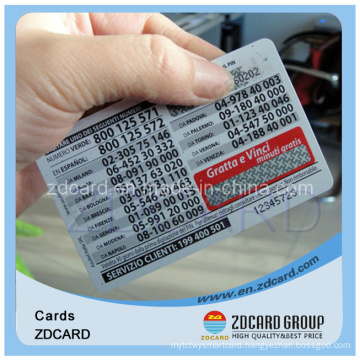 Paper Phone Card Blank Card Name Card Transportation Card PVC Card
