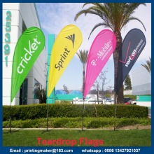 Custom Advertising Flying Teardrop Flaggor Banners
