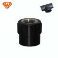 Encaixe de tubulação de HDPE de soquete com rosca