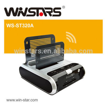 USB 2.0 Docking Station with 2port USB 2.0 hub,support HDD/ Flash Disk device