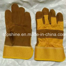 Worker Professioanl Labor Industrial Safety Cowhide Split Leather Gloves