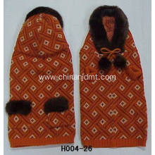 Orange sweater dog clothes