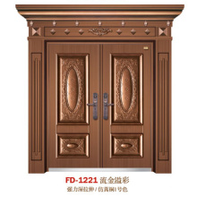 China porta de aço porta de entrada do fornecedor porta de ferro porta de metal (fd-1221)