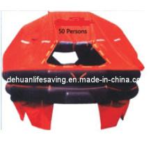 EC/GL Certified 50 Man Self-righting Inflatable Life raft