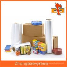 Envoltura plástica suave del estiramiento del plástico de la película del pe / hdpe / lldpe para la fabricación del supermercado