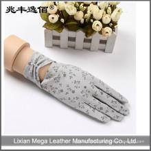 2016 neue desiges Sommer UV-Schutz treibende Baumwollhandschuhe
