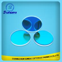 Filtre optique coloré de filtre en verre bleu de Bandpass