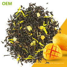 Venta al por mayor popular exótico popular mejores hojas sueltas descafeinado a base de hierbas MarigoMango té negro mezclas / té negro mezclado / té con sabor