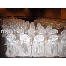 100 % polyester couvre chaise, hôtel/Banquet chaise couvrir, chaise couvrir avec ceinture Satin