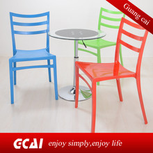 outdoor meeting moveable white pp plastic stacking chair
