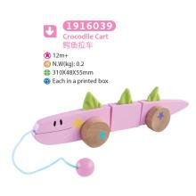 Jouet en bois en bois à crocodile Pull and Push Toy pour enfants