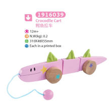 Wooden Crocodile Pull and Push Toy Wooden Pull Toy for Kids