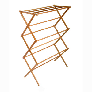 Foldable wooden Clothes Drying Rack Bath Towel Holder