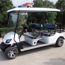 4 seater police electric golf carts for community