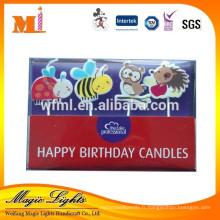 Variétés de bougies en forme d'animaux dans une boîte en PVC