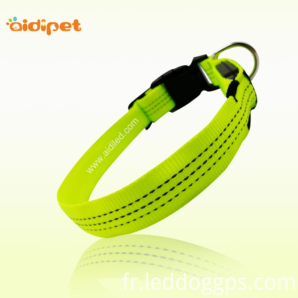 Nylon Led Lighted Up Dog Collar